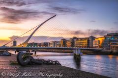 Samuel Beckett Bridge Sunset (ericjmalave) Tags: titanic belfastharbor dublin dublincquay harbor ititanicquarter sunrise sunset timelapsese