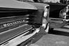 Bonnie & Clyde (Hi-Fi Fotos) Tags: pontiac bonneville vintage american classiccar headlight grille badge detail chrome bw mono blackandwhite nikon d5000 gm hififotos hallewell