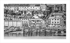 Saltash mono (PAUL YORKE-DUNNE) Tags: saltash rivertamar tidal water boats village town seaside sony a7r2