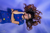 Buudai II (Chrisdevillio) Tags: asian portrait colorfull color dress fashion shooting beauty background summer studio bluedress summerdress purplebackground buudai chbphotography colorfulldress purple glasses buudaienkhbab worben bern schweiz ch