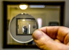 Macro Selfie (Free Range Photos) Tags: macromonday hmm selfie selfreflection reflection macroselfie weeklythemechallenge
