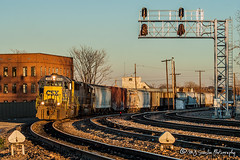CSX 8458 | EMD SD40-2 | UP Memphis Subdivision (M.J. Scanlon) Tags: csx8458 csxt8458 mp741 mp3041 cnw3041 pal3041 mp cnw pal mopac missouripacific chicagonorthwestern paducahlouisville emd sd402 sd40 rebuilt signal signals sunset glow memphis tennessee tree sky digital merchandise commerce business wow haul outdoor outdoors move mover moving scanlon canon eos engine locomotive rail railroad railway train track horsepower logistics railfanning steel wheels photo photography photographer photograph capture picture trains railfan