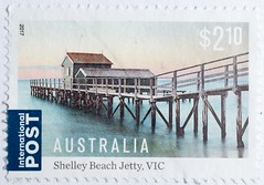 Australian Postage Stamp, $2.10 (velodenz) Tags: velodenz fujifilm x100f fujifilmx100f australia australian postage stamp timbre briefmark briefmarke shelley beach jetty vic views repostmyfuji repostmyfujifilm fuji xseries 2000 2000views