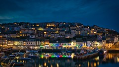 Brixham at Night (simondayuk) Tags: brixham devon torbay night dusk harbour sea boats d5300 nikon kitlens