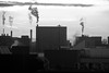 The shape of things (marktmcn) Tags: urban industrial industry shapes cityscape buildings smoke smokey morning air pollution polluting atmosphere blackandwhite monochrome d80 nikkor 18135mm
