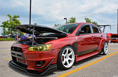 2012 Mitsubishi Lancer Evolution (Chad Horwedel) Tags: 2012mitsubishilancerevolution mitsubishilancerevolution mitsubishi lancerevolution car 4thofjulycarshow napervillecrossings naperville illinois