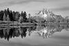 Oxbow Bend (kelstar*) Tags: grandtetonnationalpark oxbowbend usa wyoming snakeriver mountmoran reflection reflecting blackandwhite bw