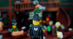 Governor J. Guyiere Wilkinson de Chauncourtois (Robert4168/Garmadon) Tags: lego brethrenofthebrickseas eslandola inn tavern port wilks captainwhiffo duel tale story minifigure minifigures dark green brown black red alllego scene