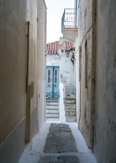Alleyway in Chora, Andros, Greece