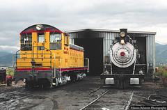 Diesel Invasion (jamesbelmont) Tags: unionpacific hebercity utah railroad railway emd nw2 steam 282 baldwin