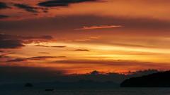 Ao Nang sunset (Kai Metso) Tags: thailand ao nang noppharat thara beach sunset landscape nikon d300s sea ocean boat sun clouds