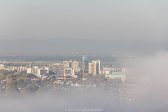 Misty Skyscapers - October 2017 (boettcher.photography) Tags: heidelberg deutschland germany badenwürttemberg oktober october herbst autumn fall 2017 sashahasha boettcherphotography boettcherphotos city stadt mist misty nebelig nebel fog foggy tower turm skyscrapers hochhaus srhschlumpftower