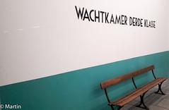 3rd class waiting room (pa0mjm) Tags: unlimitedphotos waiting room train station railroad bank minimal blue white wachtkamer 3eklasse trein passenger passagier