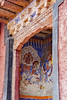 Buddhist murals (bag_lady) Tags: mathomonastery monastery gompa buddhist ladakh india leh doorway murals buddhistmurals wallpainting buddhism sakyaorder