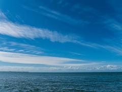Cirrus and Cumulus mediocris Lovers Walk Shorncliffe P1070200n (john.robert_mcpherson) Tags: bramble bay cirrus clouds