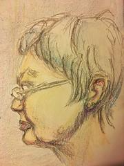 Crayon portrait (Howard TJ) Tags: portrait female drawing crayon face