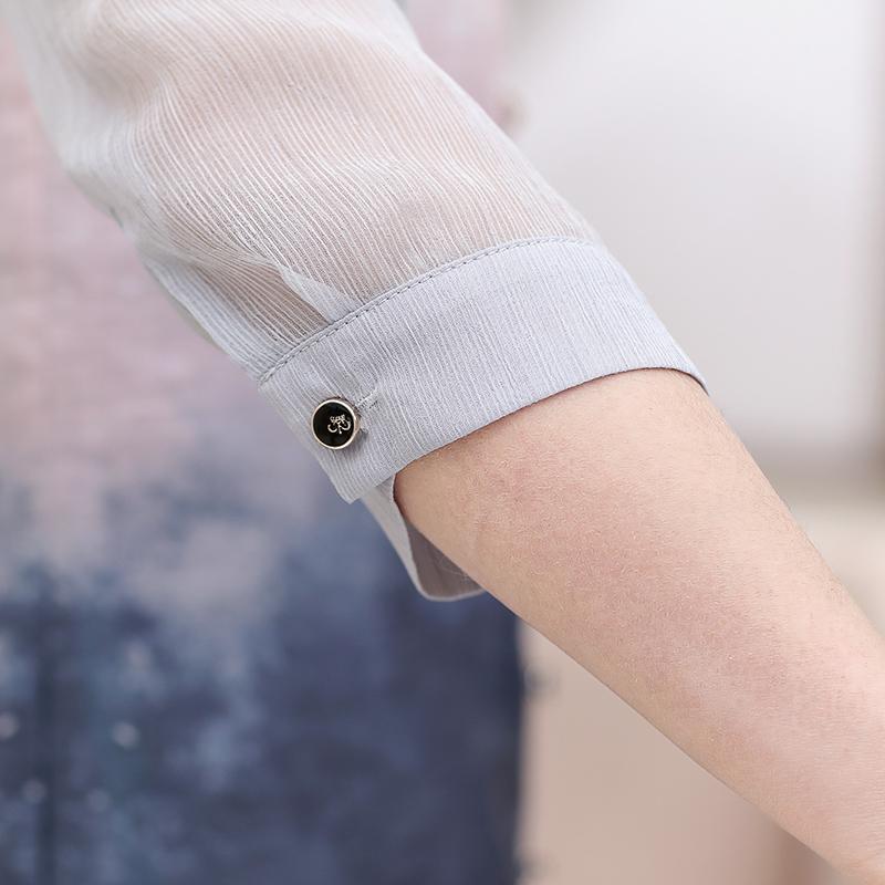 Im Herbst Lange overknee - kleid zweiteiler MIT betagten Mutter sommerkleider dame Mittleren Alters, chiffon - shirt kleidung