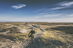 Walking through the dunes to the shore - Cape Cod National Seashore (Jonmikel & Kat-YSNP) Tags: capecod ptown provincetown dunes sand beach shore massachusetts