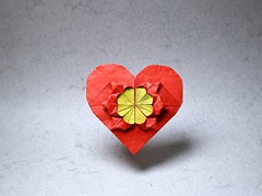 Flower in a Heart (IG: bartfartsart) Tags: origami paper art hobby interest fun international internet olympiad 2017 heart flower love