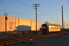 Glint at Rio Vista Jct. (CN Southwell) Tags: western railway museum trolley california baera