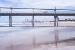 蜃樓 (nzfisher) Tags: goldcoast queensland australia 50mm canon bigstopper longexposure sea seascape landscape beach cityscape pier waves coastline