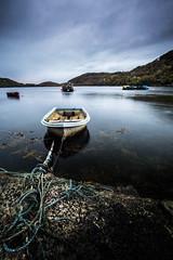boat in the harbor (jan_baranovski) Tags: north highlands scotland unitedkingdom boat lake sea harbor shutterspeed sky reflection nature landscape seascape smayang 12mm sony a6000