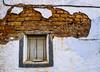 Time Window (Walimai.photo) Tags: window ventana adobe brick marron brown white blanco wall pared lumix lx5 panasonic montamarta zamora spain españa camino de santiago vía la plata wire cable persiana