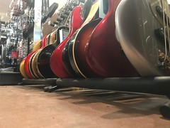 Wanna play on the floor? (Robin Penrose - Canadian eh?) Tags: 201711 iphone 7daysofshooting week21 lowvantagepoint focusfriday guitars music instruments