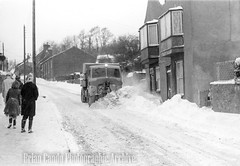 Old Town snow plough (Maintained by Matthew Bigwood) Tags: briancandy wottonunderedge monochrome 35mm film snow 1963 gloucestershire briancandyphotographicarchive
