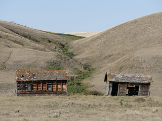 Part of an abandoned mining camp