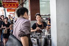 Working Woman  in China Town Market- Bangkok (Tiziana de Martino) Tags: woman work market china town city bangkok people world travel over food street ngc