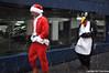 Dashing Through The Snow (Trish Mayo) Tags: santacon santacon2017 santaclaus penguin