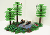 Chase on Endor (Ben Cossy) Tags: lego star wars endor ewok speeder bike scout trooper luke skywalker the last jedi return force tree moc afol tfol plant lake motion water