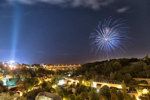 Schueberfouer fireworks from Bock