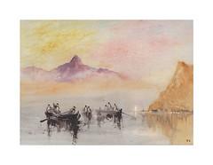 Le retour des pêcheurs (Yvan LEMEUR) Tags: aquarelle watercolour acuarela peinture pêche pêcheurs