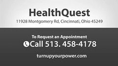 Welcome to HealthQuest (turnupyourpower) Tags: chiropractic chiropractor adjustment spine back hurt pain auto massage physical therapy acupuncture orthotics nutrition doctor sports injury holistic counseling healthquest marcalittrell dc stephenwpendell kylefrederick scottdgoodhart robertsprewitt