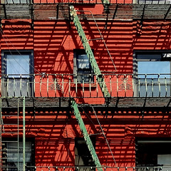 Escapism XIV: A Prison Of Our Own Devising (nrg_crisis) Tags: architecture architecturaldetail abstractarchitecture fireescape escapism lines shadows urban nyc chinatown
