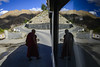 Monk (SaumalyaGhosh.com) Tags: people monk ladakh sky nature color travel india street streetphotography road reflection shadow light