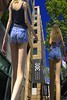An Ant Perspective (swong95765) Tags: perspective woman females ladies shorts cute street buildings pov