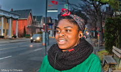 Connected  - Ottawa 11 17 (Mikey G Ottawa) Tags: mikeygottawa canada ontario ottawa street city people selali streetportrait portrait wireless cellphone microphone earpiece conversation connect mobile phone 400iso iso400 lowlight