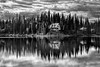 Lake House (docoverachiever) Tags: still scenery landscape lake emeraldlakelodge emeraldlake water canada yohonationalpark britishcolumbia relection clouds challengeyouwinner