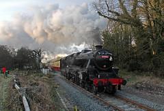 44806 at Newbridge (TomNoble7) Tags: lms black5 44806 nymr pickering levisham santaspecial newbridge