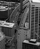 Before the rush. (petebond_au) Tags: australia vehicles urban city perspective aerial view freeway buildings architecture sydney eye bnw white black monochrome