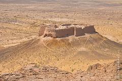 Ruins of Ayaz-|Kala (yuriye) Tags: yuriye asia uzbekistan ruined ruin ayaz kala kyzylkum desert yellow stone rock landscape panorama fortress кызылкум пустыня узбекистан urgench qyzylkum