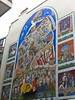 patchwork dress (n.a.) Tags: mural faces people patchwork quilt dress wall building london