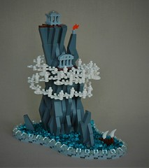 Journey to the lost temple (adde51) Tags: foitsop adde51 lego moc microscale micro temple mountain cloud clouds boat tiny journey ship sailing