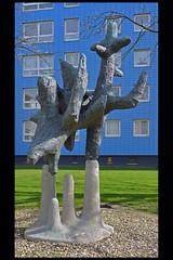 den haag ornithopus 02 1966 vd gaag l (dedemsvaartwg) (Klaas5) Tags: hague thehague netherlands holland ©picturebyklaasvermaas art kunst kunstwerk artwork sculpture sculptuur postwarart niederlande paysbas nederland publicart outdoor plastiek