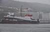 MV Glen Sannox Enters the Water (Russardo) Tags: portglasgow scotland unitedkingdom mv glen sannox launch ferry calmac port glasgow clyde caledonian macbrayne fergusons shipyard