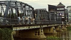 It's the Iron Bridge..not the Iron Gate (J316) Tags: chiangmai thailand bridge ironbridgeofchiangmai j316 a77 sony pingriver maeping