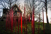 Red wax runs upward (sniggie) Tags: chihuly makersmarkdistillery dusk glassart sunset artistdalechihuly kentucky marioncounty gothic autumn